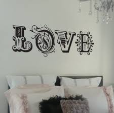 decorating attractive black mural love wall art stickers wall attractive black mural love wall art stickers