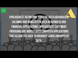 Applications Of Spreadsheet What Is The Definition Of Spreadsheet
