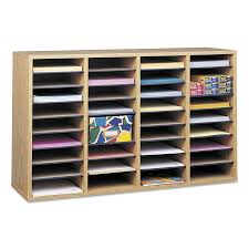 Safco Desk Organizer by Safco Wood Laminate Literature Sorter 36 Sections 39 1 4 X 11 3