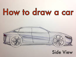 ferrari sketch side view how to sketch a car side view tutorial youtube