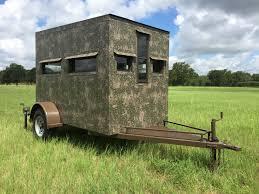 5x9 hunting trailer blinds atascosa wildlife supply texas deer 5 9 bow rifle trailer blind bushlan