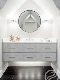 Gray Floating Bathroom Vanity Contemporary Bathroom - Floor to ceiling bathroom vanity