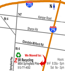 Springfield Ohio Map by Map 3r Recycling Cincinnati