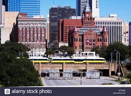 Dart Dallas Map A Dallas Area Rapid Transit Dart Light Rail Train Cruises Above