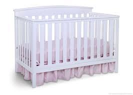 Stratford Convertible Crib by Delta Children White Grey 027 Tribeca 4in1 Crib Front Modern