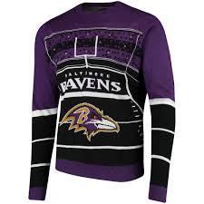 light up sweater s baltimore ravens purple stadium light up sweater nflshop com