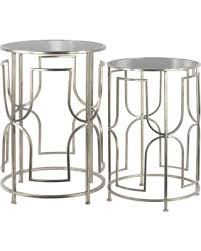 round silver accent table memorial day sale urban trends collection metal round nesting