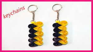 paper quilling keychains youtube