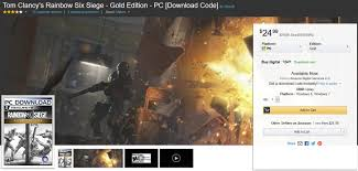 siege amazon amazon tom clancy s rainbow six siege gold edition pc