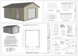 The G443 14 X 20 X 10 Garage Plan Free House Plan by Apartments Garage Drawings Pdf Garage Plans Sds Drawings G X Re