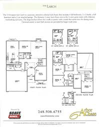 Auto Floor Plan Rates by Arbor Chase Subdivision Dundee Mi Milan Dundee Saline