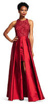 halter gown with taffeta skirt adrianna papell