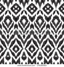 abstract background black white ikat seamless stock vector