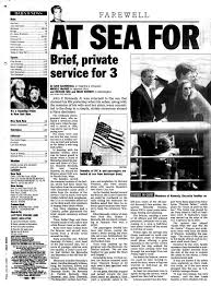 John F Kennedy Junior John F Kennedy Jr Is Given A Burial At Sea In 1999 Ny Daily News