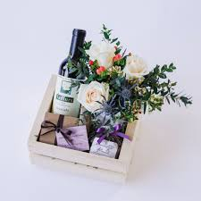 wine gifts delivered wine chocolate gift box with flowers delivery in santa