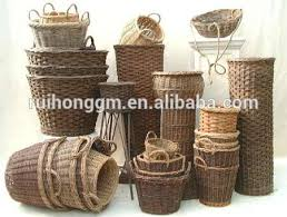 wholesale large willow house stair storage baskets or wicker step