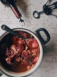 coq cuisine au vin