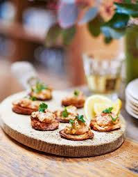 canapes ideas crab toasts delicious magazine
