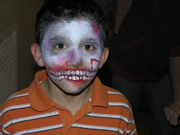 zombie face paint the painted otter