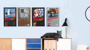 these nintendo box art canvases are retro heaven for your game