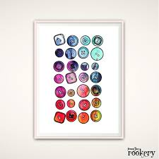 Sewing Room Decor Craft Room Wall Art Button Wall Art Button Wall Decor