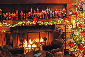 stunning fireplace christmas decorations on decoration with