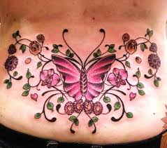best butterfly back tattoos butterfly tattoos on lower back
