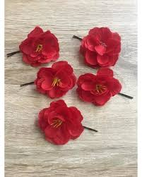 flower hair pins amazing deal on scarlet begonia hair pins scarlet begonia hair