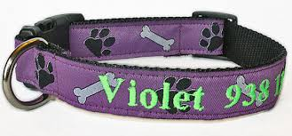 purple paw prints and bones personalized embroidered customized