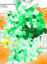 Southern Germany Map by Germany Employment Maps