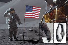 Picture Of Flag On Moon Only Privately Owned Astronaut Wristwatch Worn On The Moon Heads