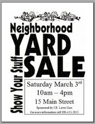 plan a successful neighborhood garage sale with these tips http