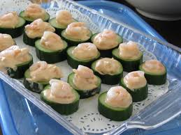 wedding horderves ideas cucumber cup appetizers fork lore