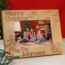 personalized family christmas wood picture frame christmas wood
