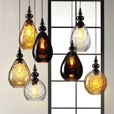 vintage glass pendant light lustre vintage glass pendant light loft len retro pendant l