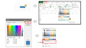 excel vba to add custom colors to recent colors section of palette