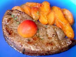 cuisiner du foie de boeuf foie de veau poêlé aux abricots