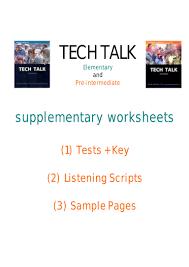 39528556 tech talk supplementary worksheets 1