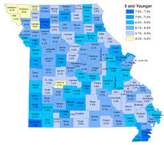 missouri map by population newsletter oldest and youngest counties in missouri