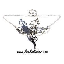 phoenix defender circlet mixed metals silver charcoal and