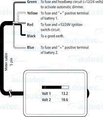 projecta dual battery system monitor volt meter dbm100 12v 24 volt