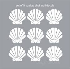 scallop shell decal beach seashell wall decals beach house scallop shell decal beach seashell wall decals beach house decor scallop stickers scallop shell decals beach shell decals summer art