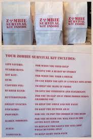 party city halloween treat bags zombie survival kit goodie bag for kids party i purchased white