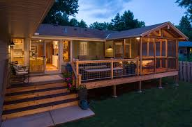 horizontal deck railing deck traditional with sliding glass door