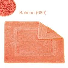 Orange Bathroom Rugs by Habidecor Reversible Bath Rug Salmon 680 U2013 Flandb Com