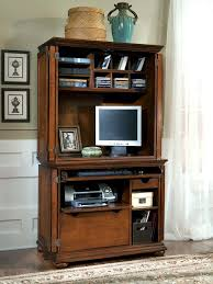 Computer Hutch With Doors Furniture Timeless Elegance And Versatility Computer Hutch