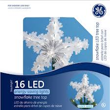 Lighted Snowflakes Outdoor by Shop Ge 9 75 In Plastic Lighted Led Snowflake Christmas Tree