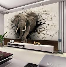 custom 3d elephant wall mural personalized photo wallpaper