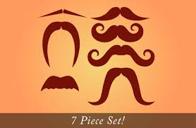 mustache pack set of 7 different vinyl staches for your wall jar