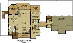 open house plans with photos open house plan with 3 car garage appalachia mountain ii plans